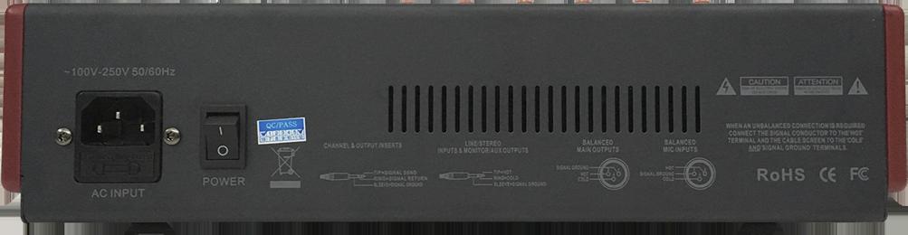 MIX6-USB Mezcladora de 6 canales BLUETOOTH & USB