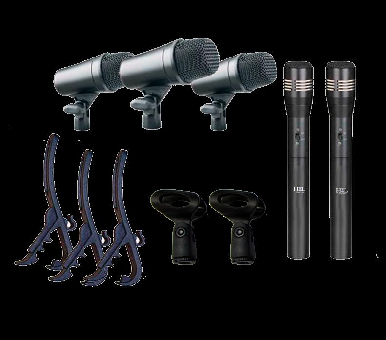 H-M5 KIT de micrófonos para Bateria HIGH LINE