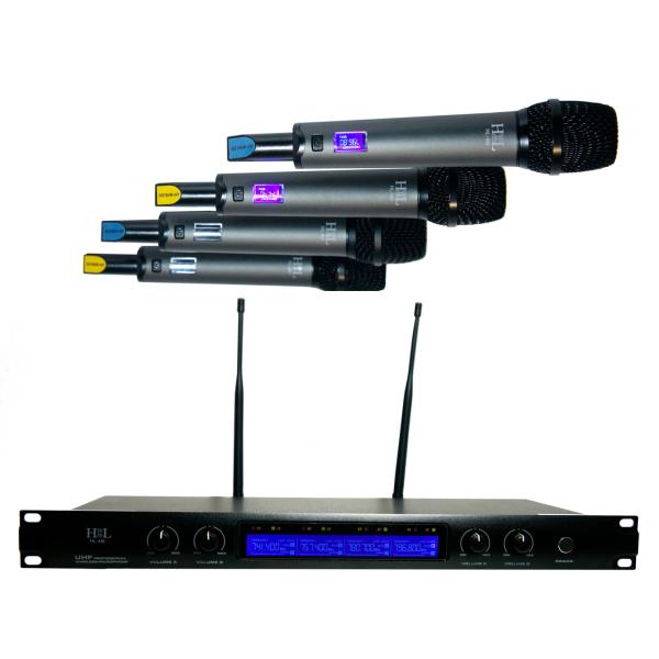 HL-4M Sistema de 4 Micrófonos Inalámbricos de Mano HIGH LINE