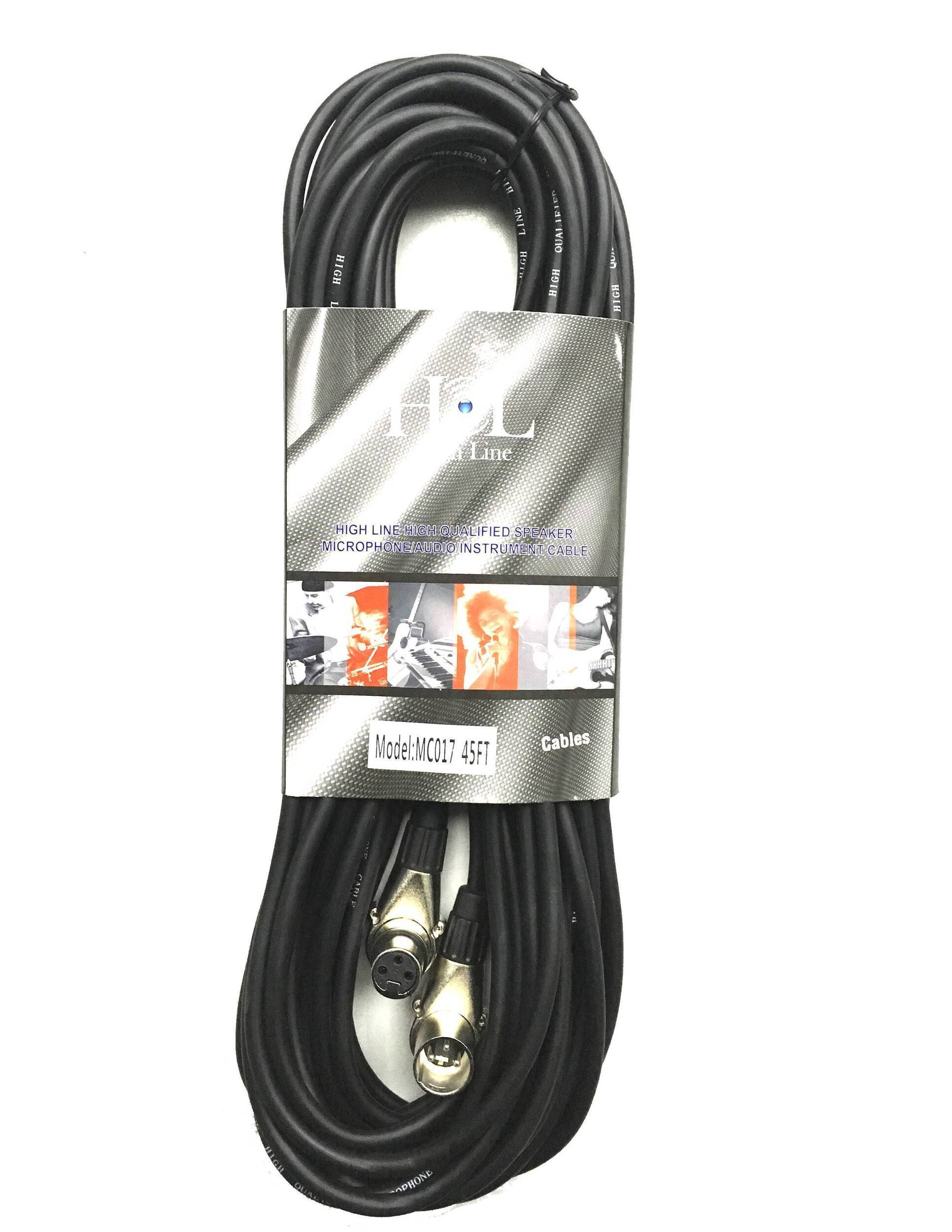 MC017 45FT Cable XLR a XLR Escuadra de 15 metros HIGH LINE